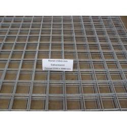 150x150x6 mm galvaniseret rionet - format 2150x5000 mm