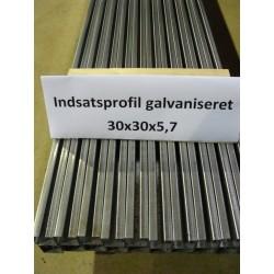 30x30x5,7 indsatsprofil 3m - galvaniseret