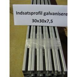 30x30x7,5 mm indsatsprofil 3m - galvaniseret